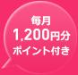 1,000円分ポイント付き